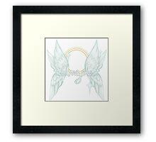 ANGEL TEXT Framed Print