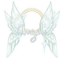 ANGEL TEXT Photographic Print