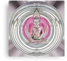 Love Meditation Bubble - Floating Buddha Canvas Print