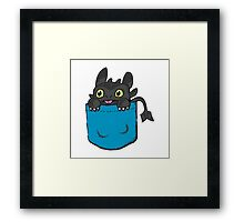 Toothless Frocket Framed Print