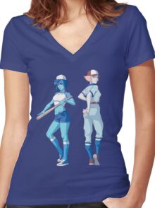 Lapis and pearl Women's Fitted V-Neck T-Shirt
