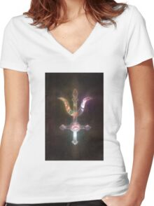 Prophecy Hill and the Paper Sea Women's Fitted V-Neck T-Shirt