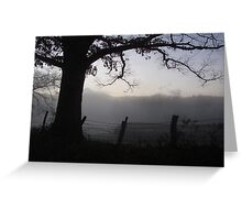 A Smoky Mountain Fog Greeting Card