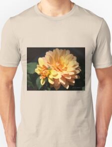 GOLD DAHLIA WITH BABY BUD T-Shirt