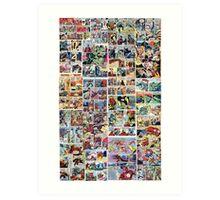 Comics vintage marvel and dc comics Art Print