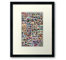 Comics vintage marvel and dc comics Framed Print