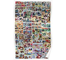 Comics vintage marvel and dc comics Poster