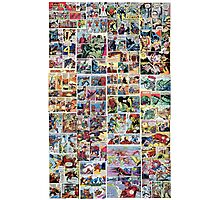 Comics vintage marvel and dc comics Photographic Print