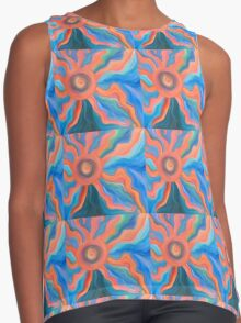 Loved by the Sun Energy Painting  Contrast Tank