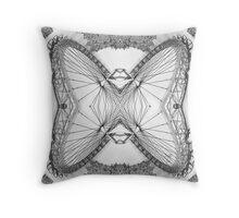 An Intramagnautical London Butterfly Throw Pillow