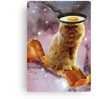 bacon egg cat Canvas Print