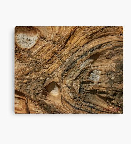 Rock Formation around Wollongong (1) Canvas Print