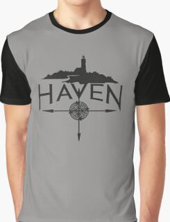 Haven Black Logo Graphic T-Shirt