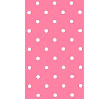 Pink White Polka Dots Photographic Print