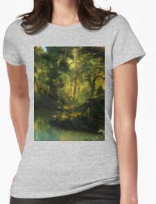 Forrest corner Landscape Womens Fitted T-Shirt