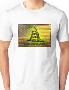 Don't Tread on Me Shirts & Sticker American Flag Background Unisex T-Shirt