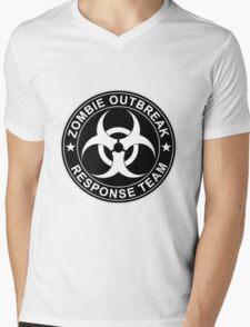 Zombie Outbreak Response Team Logo Mens V-Neck T-Shirt