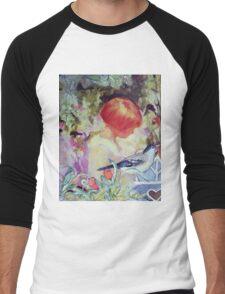 GIRL IN GARDEN - Antique Collage Men's Baseball ¾ T-Shirt