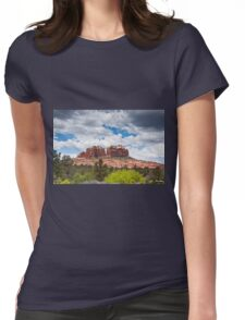 Storm Clouds Over Cathedral Rocks Womens Fitted T-Shirt