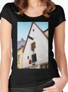 Peppersack, Old Town, Tallinn, Estonia Women's Fitted Scoop T-Shirt