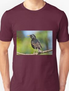 European Starling in a Tree Unisex T-Shirt