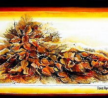 Autumn Leaves Collage by Dana Roper