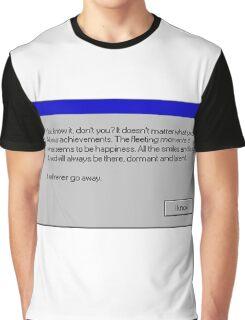 Nihilism Vaporwave Error Message  Graphic T-Shirt