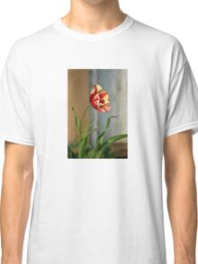 Red And Yellow Parrot Tulip Classic T-Shirt