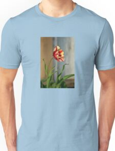 Red And Yellow Parrot Tulip Unisex T-Shirt