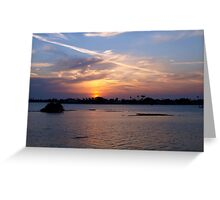 Contrail glory Greeting Card