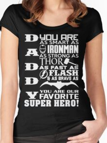 Daddy Superhero Women's Fitted Scoop T-Shirt
