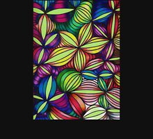 Colorful op art Womens Fitted T-Shirt