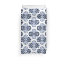 Blue Bubble-Cloverleaf Fabric Pattern Duvet Cover