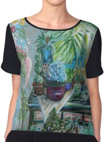 Table of a Plant Lover Chiffon Top