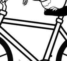 Owl on a Bike Sticker