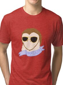 Don't Give a Hoot (with Text) Tri-blend T-Shirt