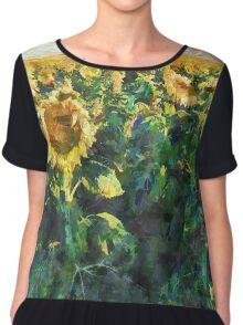 Sunflower Fields Chiffon Top