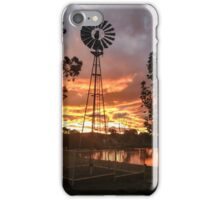 Windmill Sunset iPhone Case/Skin