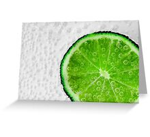 Fresh Lime Greeting Card