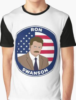 Ron Swanson - Parks and Rec Graphic T-Shirt