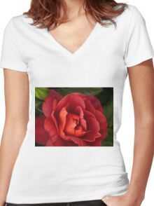 Copper Women's Fitted V-Neck T-Shirt