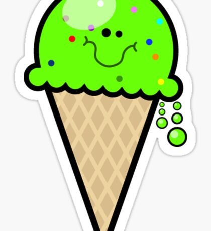 Mint Green Lime Ice Cream Cone Sticker