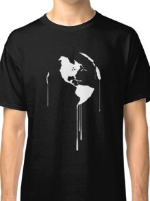Splatter Earth 1 (white) Classic T-Shirt