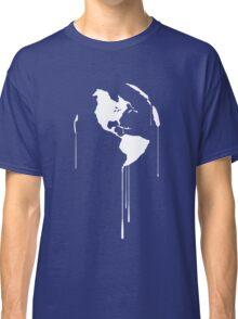 Splatter Earth 1 (white) Classic T-Shirt