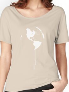 Splatter Earth 1 (white) Women's Relaxed Fit T-Shirt