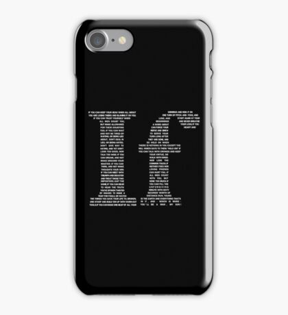 If poem | White iPhone Case/Skin