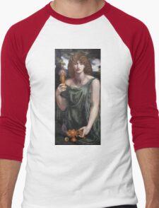 Dante Gabriel Rossetti - Mnemosyne, Portrait Of A Woman Men's Baseball ¾ T-Shirt