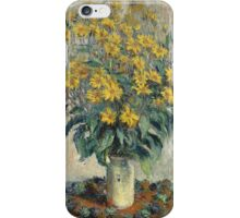 Flowers -Claude Monet - Jerusalem Artichoke Flowers 1880 Impressionism iPhone Case/Skin
