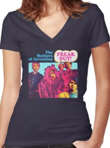 The Mothers Of Invention - Freak Out Women's Fitted V-Neck T-Shirt