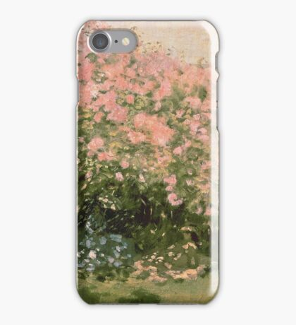 Lilac  Flowers -  Claude Monet - Lilac In The Sun 1873 Impressionism iPhone Case/Skin